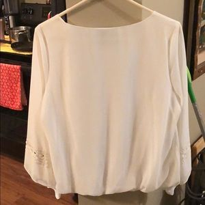 by & by Tops - Elegant White Top